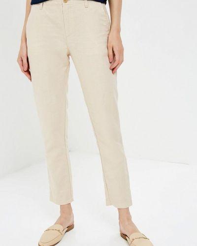 Бежевые брюки прямые Gap