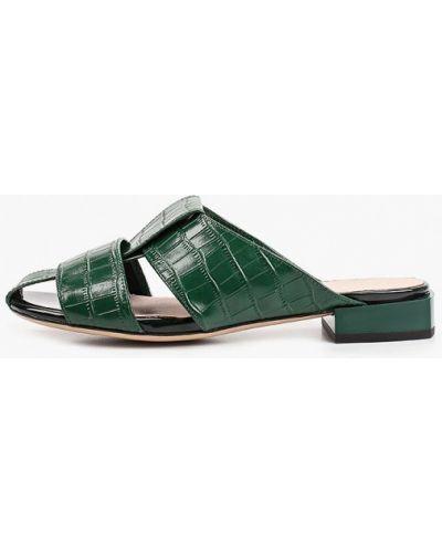 Зеленые кожаные сабо Covani