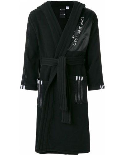 Пальто с капюшоном длинное в полоску Adidas Originals By Alexander Wang