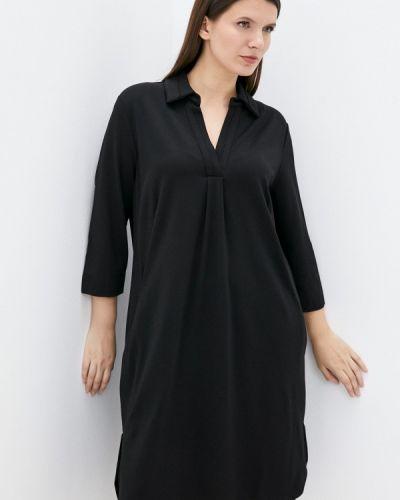Черное зимнее платье Ulla Popken