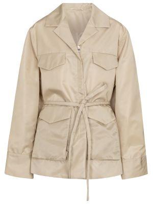 Мягкая текстильная бежевая куртка Toteme