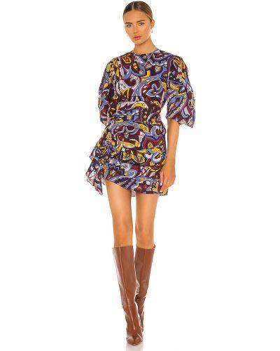 Sukienka z falbanami bawełniana vintage Rhode