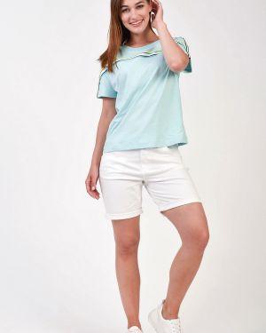 Хлопковые белые шорты Gardeur