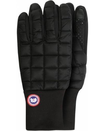 Кожаные перчатки теплые Canada Goose