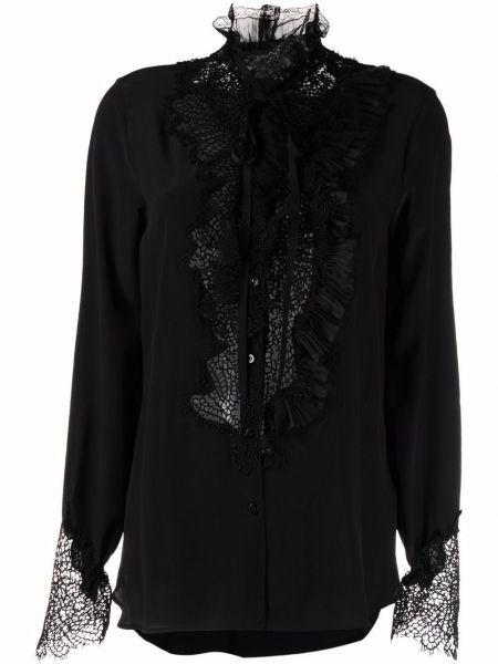 Черная блузка из полиэстера Ermanno Scervino