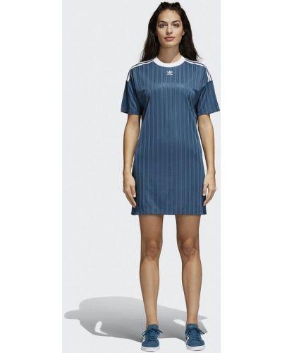 Синее платье весеннее Adidas Originals