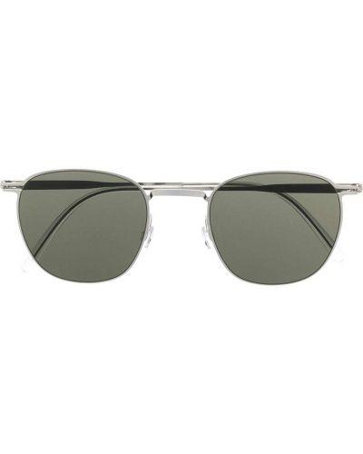 Серебряные солнцезащитные очки круглые металлические Haffmans & Neumeister