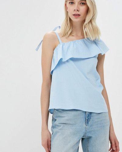Голубая блузка с рюшами Vero Moda