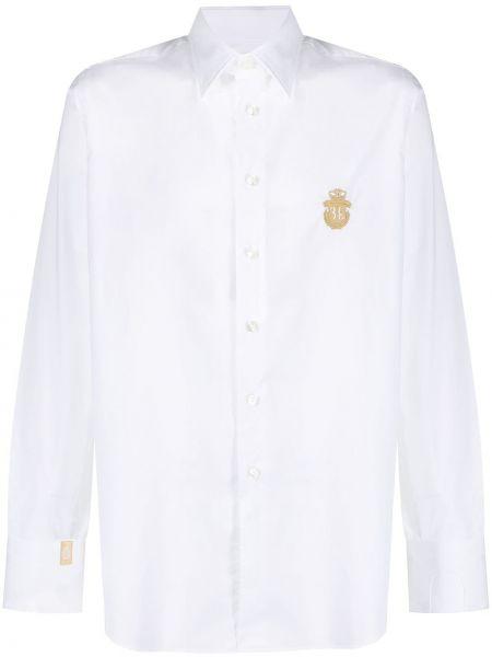 Koszula bawełniana z haftem z długimi rękawami Billionaire