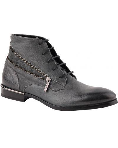 Кожаные ботинки осенние зеленый John Richmond