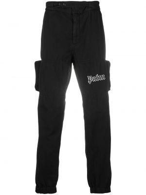Spodni bawełna bawełna czarny spodnie o prostym kroju Palm Angels