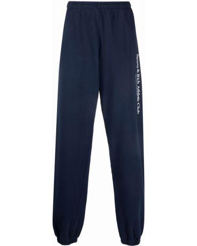 Хлопковые спортивные брюки - синие Sporty And Rich