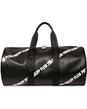 Czarna torebka skórzana z printem Philipp Plein Junior