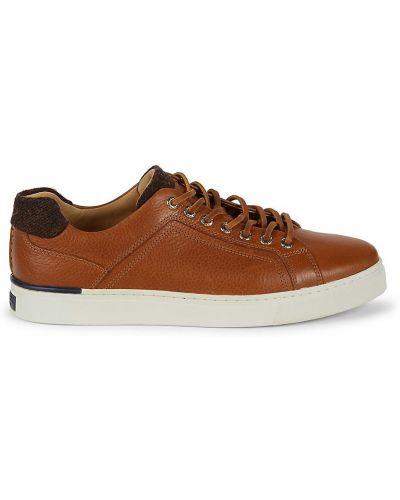Złote sneakersy na platformie koronkowe Sperry