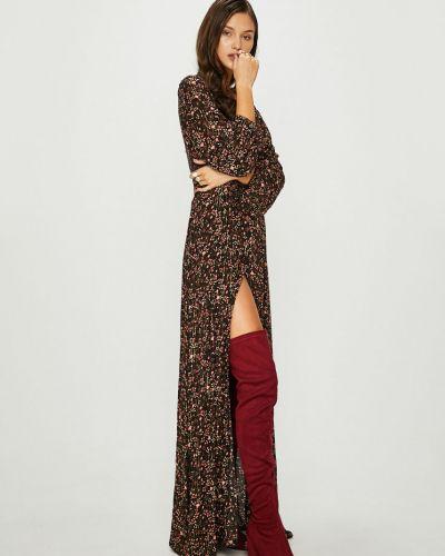 Платье макси с V-образным вырезом на пуговицах Answear