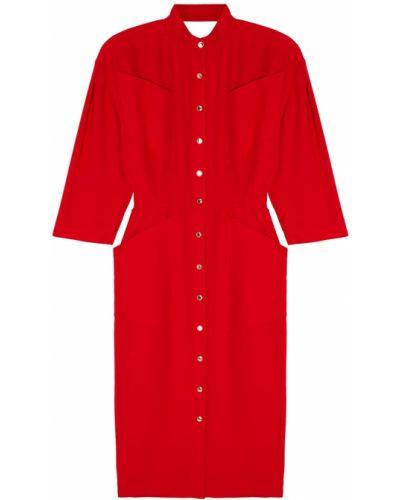 Платье миди с открытой спиной платье-рубашка Thierry Mugler Vintage