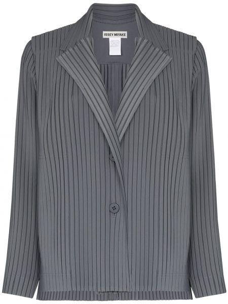 Однобортный серый пиджак Issey Miyake