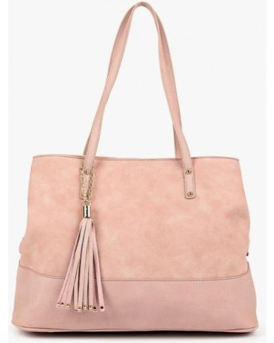 Кожаный сумка с ручками розовый Dorothy Perkins
