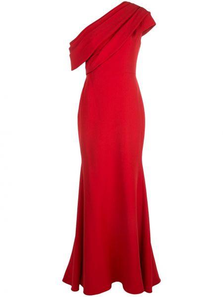 Sukienka długa rozkloszowana bez rękawów Badgley Mischka