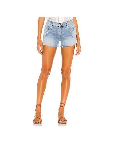 Хлопковые джинсовые шорты на молнии Frame