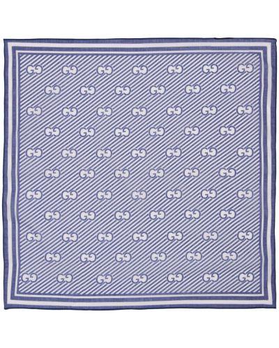 Niebieski szalik bawełniany Gucci