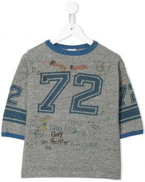 Хлопковая синяя футболка круглая с круглым вырезом Denim Dungaree