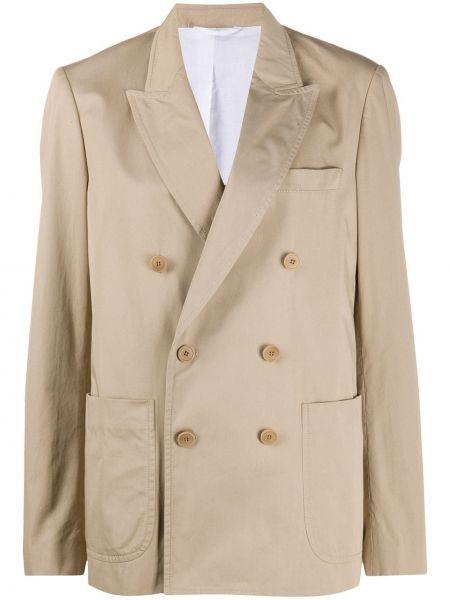 Пиджак двубортный с карманами на пуговицах Maison Flaneur
