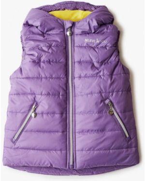 Жилет теплый фиолетовый V-baby