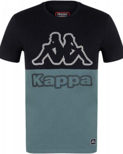 Прямая хлопковая зеленая спортивная футболка Kappa