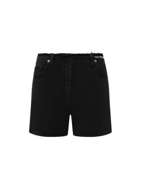 Джинсовые шорты черные с запахом Valentino