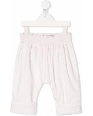 Różowe spodnie bawełniane Baby Dior