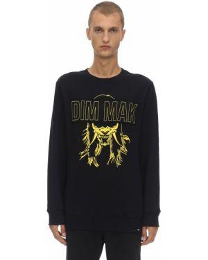Czarna bluza z haftem bawełniana Dim Mak Collection