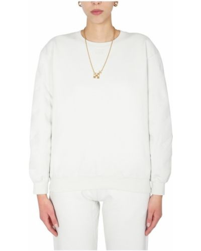 Bluza bawełniana oversize z printem Off-white
