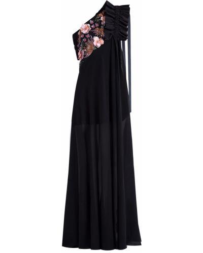 Шелковое вечернее платье - черное Emanuel Ungaro