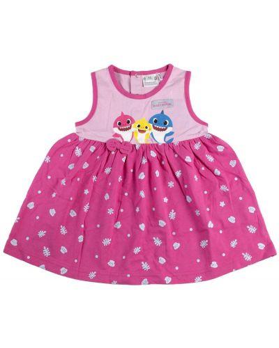 Różowa sukienka bawełniana Baby Shark