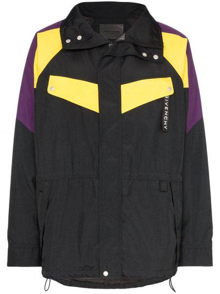 Anorak kurtka z kapturem czarny Givenchy