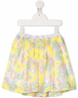 Żółta spódnica z wiskozy z printem Billieblush