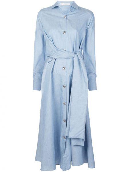 Расклешенное классическое платье миди на пуговицах с воротником Palmer / Harding