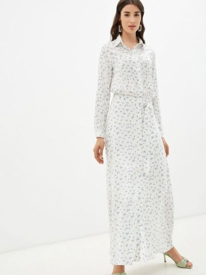 Белое платье осеннее Trendyangel