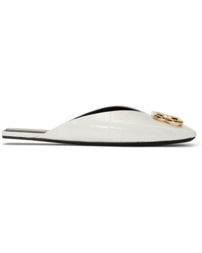 Тапочки белые черные Balenciaga