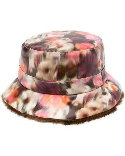 Brązowy kapelusz z wiskozy z printem Bonpoint