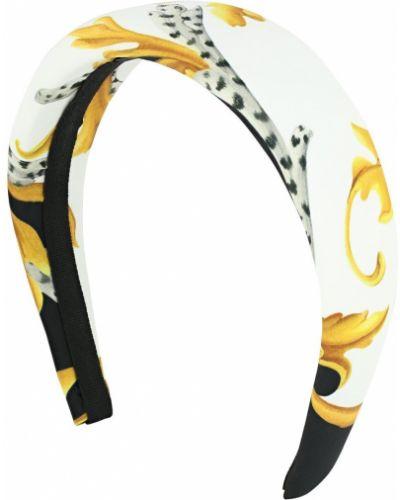 Biały opaska na głowę Versace
