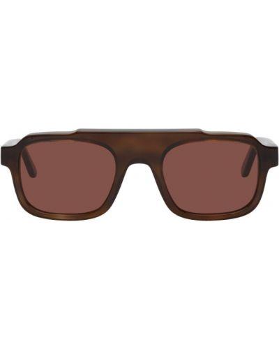 Серебряные солнцезащитные очки прямоугольные с завязками Thierry Lasry