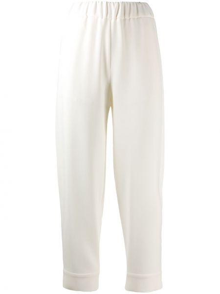 Белые брючные брюки свободного кроя Alberto Biani