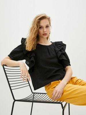Черная блузка с оборками Compania Fantastica