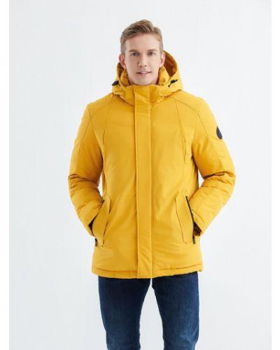 Пуховик на молнии - желтый Snowimage