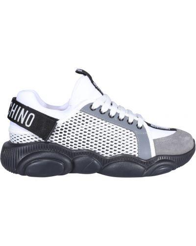Szare sneakersy Moschino
