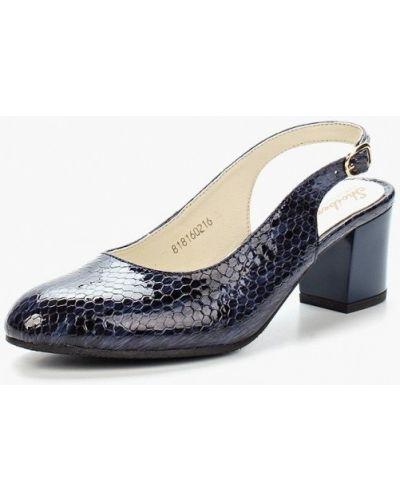Кожаные туфли с открытой пяткой на каблуке Shoiberg