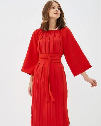 Платье красный осеннее Love & Light