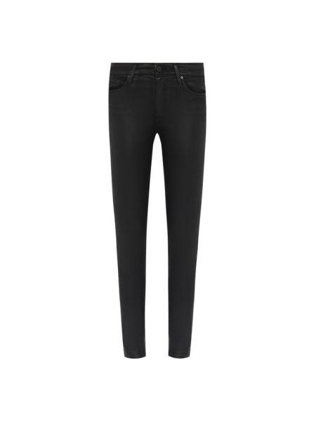 Хлопковые повседневные черные джинсы-скинни с пайетками Ag